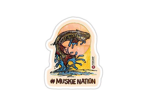 #MuskieNation Sticker