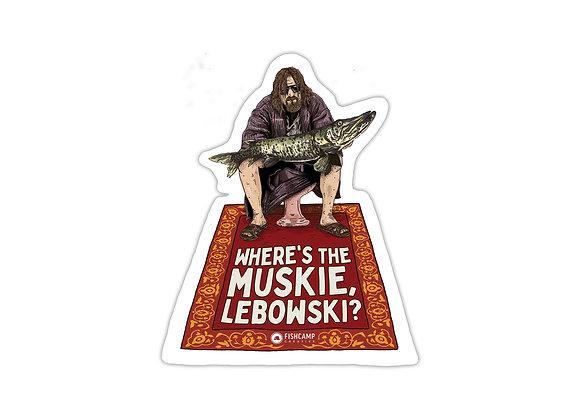 Lebowski Muskie Sticker