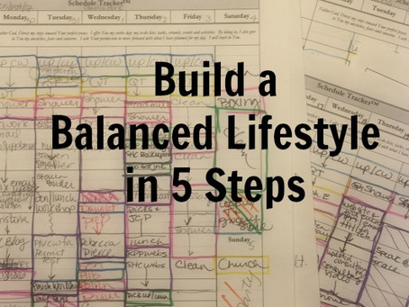 Scheduling for Balance in 5 Steps