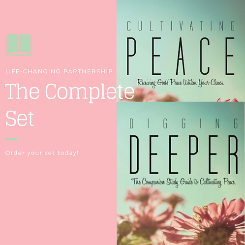 Autographed Cultivating Peace and Digging Deeper Study Set