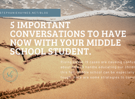 Managing Middle School and Covid-19 this Fall