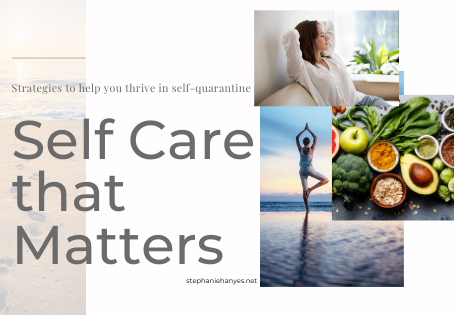 Self Care that Matters in Times of Crisis