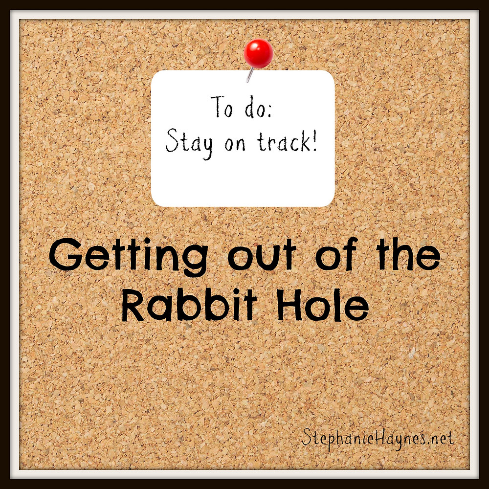 Getting out of the rabbit hole
