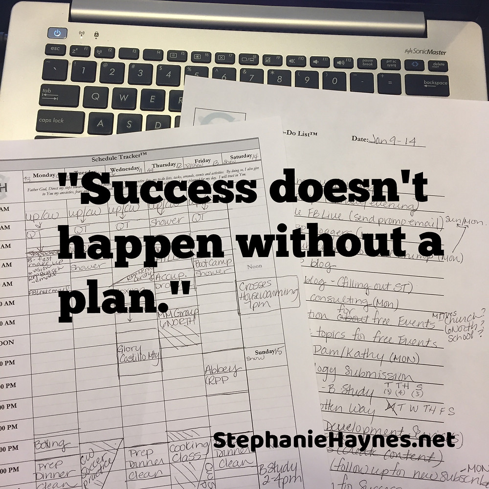 Success doesn't happen without a plan.