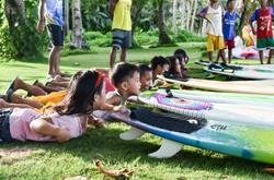 Surf lessons underway