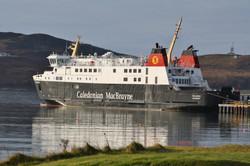 Ferry docked in Port Ellen