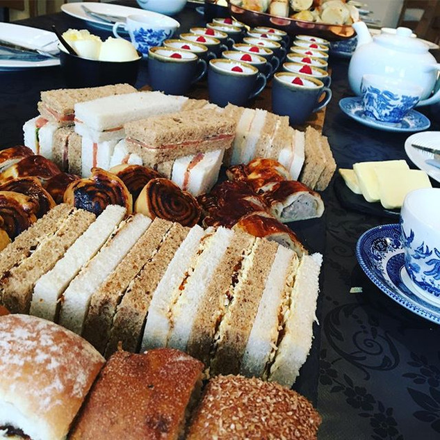 Afternoon tea delivered and set up at _c