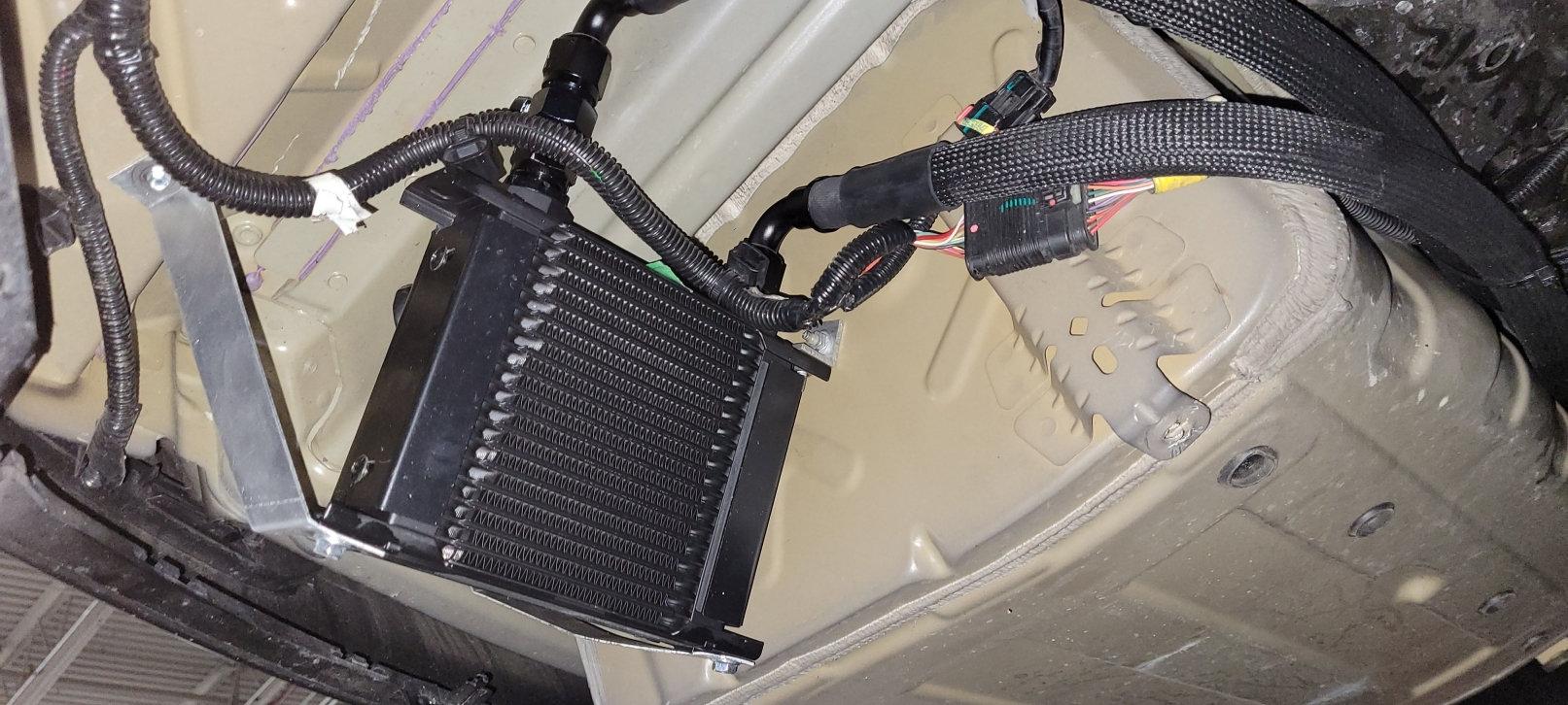 Rear Drive Unit Oil Cooler Installation