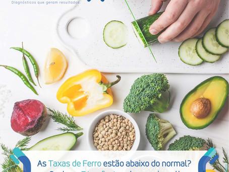 AS TAXAS DE FERRO ESTÃO ABAIXO DO NORMAL? CONHEÇA 7 TOP FONTES DESSE MINERAL.