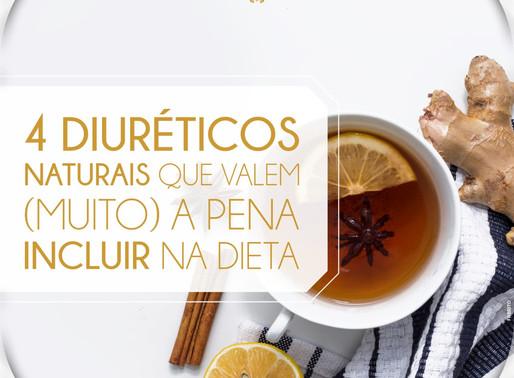 4 DIURÉTICOS NATURAIS QUE VALEM (MUITO) À PENA INCLUIR NA DIETA