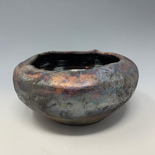 Raku bowl, altered