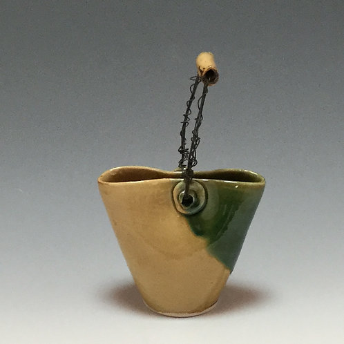 Triangular Ikebana Vase