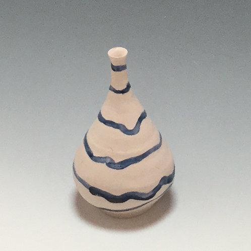 Blue stripe mini-bottle