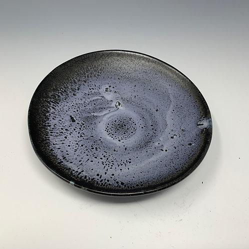 Serving dish, purple-black