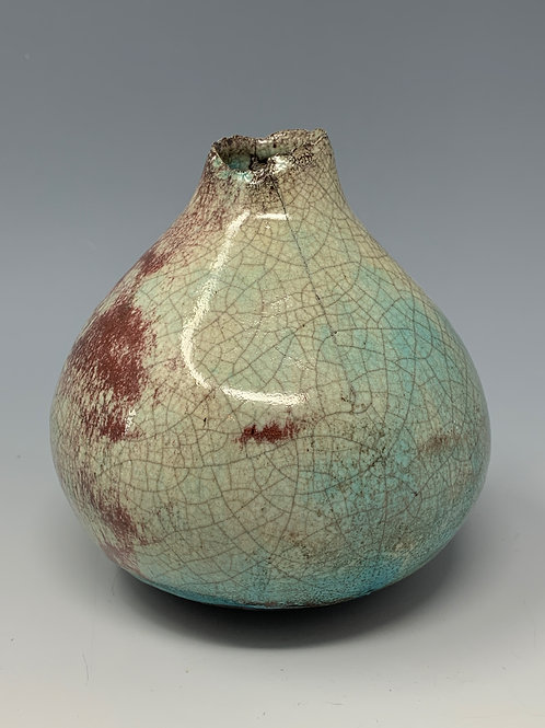 Raku Sphere bottle 2
