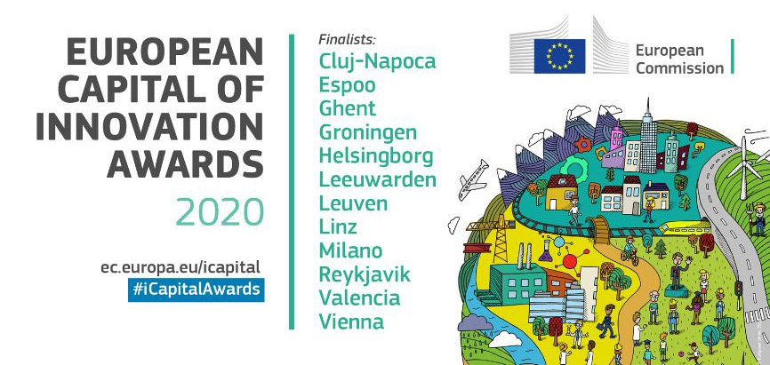 """Cluj-Napoca, finalist in the """"European Capital of Innovation 2020"""" competition"""