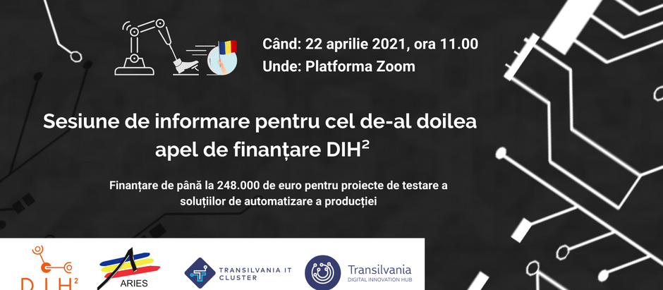 Up to 248,000 euros financing for consortia in Romania, through the second call of DIH² project