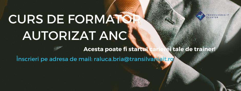 Transilvania IT Cluster organizează CURS DE FORMATOR