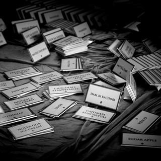 Menu placecard detail shot by Cimmaron Singh