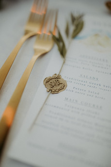Minimalist Version of Greek Wedding Reception