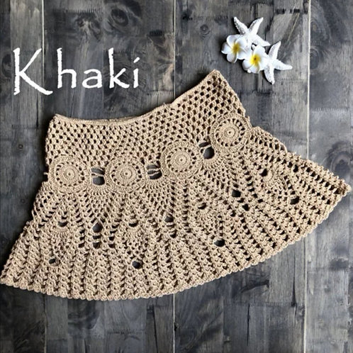 RV Crochet Skirt #1 - Khaki