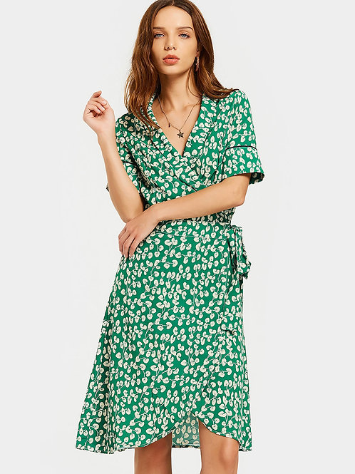 Zinnia In Paris Wrap Dress