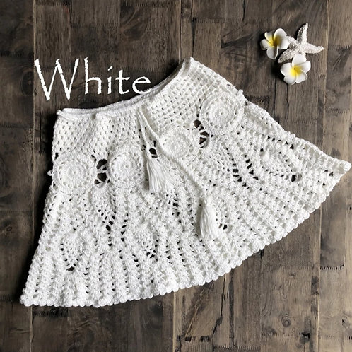 RV Crochet Skirt #1 - White
