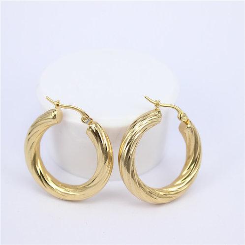 ALICIA 50mm - Gold Hoops Earring