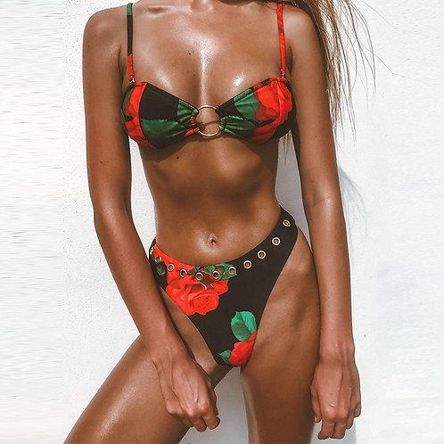Alec's Rose Bikini Set
