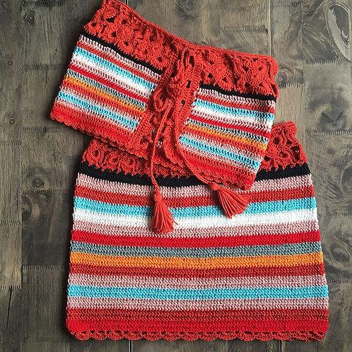 Luna Crochet Set-Red