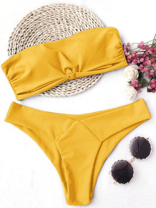 Keira Bandeau High Cut Bikini Set