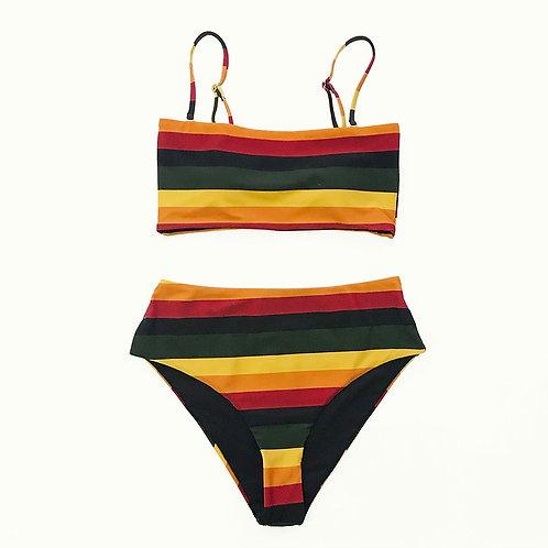 Retro Stripes Bikini Set