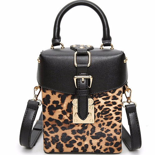 My Leopard Box Bag