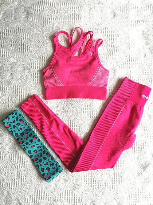 RV Feisty Sport Set #2 // Bra + Leggings - Hot Pink