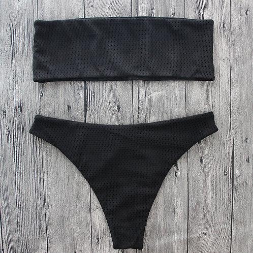 Gina Bandeau High Cut Bikini Set