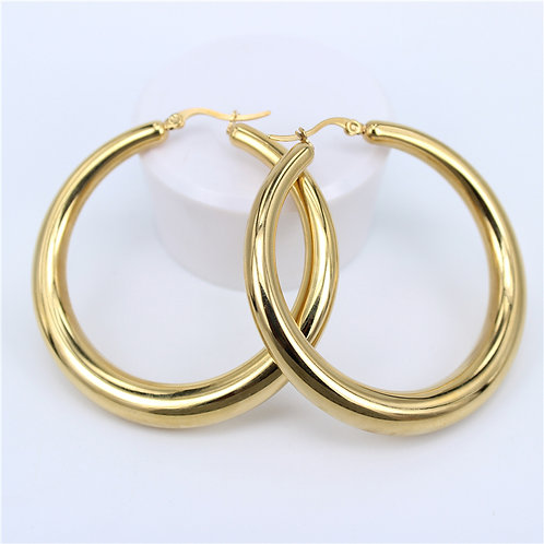 Amelia 54mm - Gold Hoop Earrings