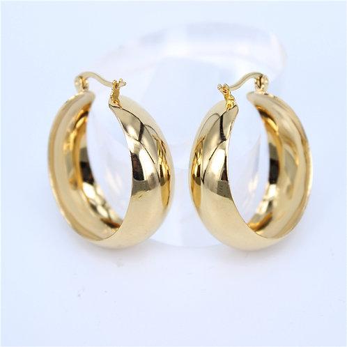 ELENA 35mm - Gold Hoops Earrings