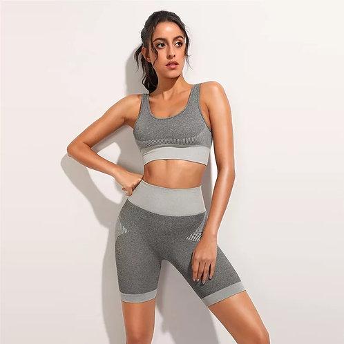 RV Demi Shorts  Set - Light Grey