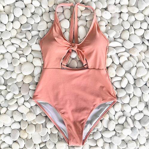 Peachy Sweet Cut Out Swimsuit