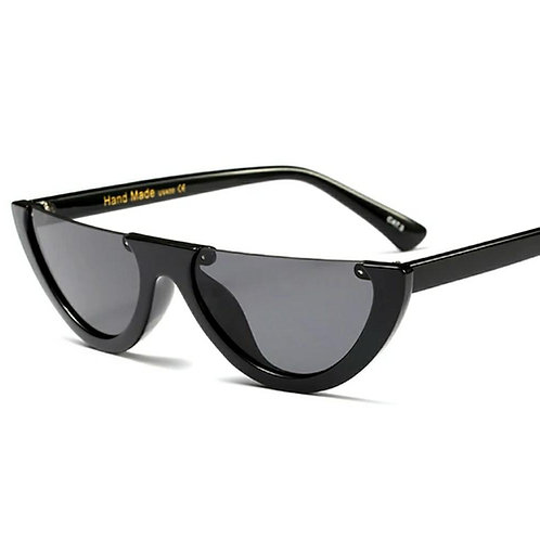Half Rimless Sunglasses - All Black