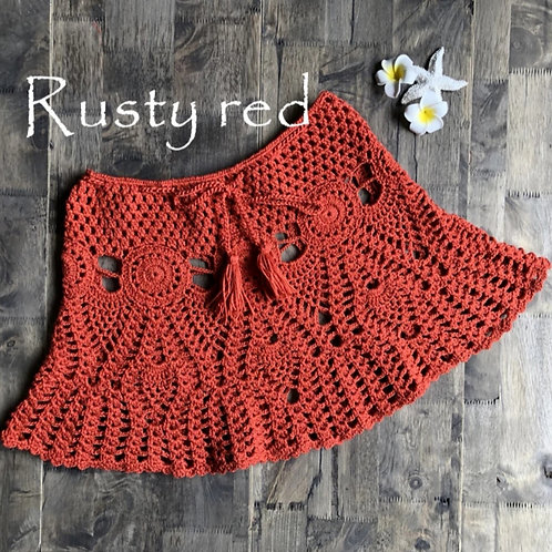 RV Crochet Skirt #1 - Rusty Red