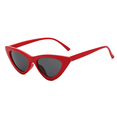 All Time Cat Eye Sunglasses - Red Rims