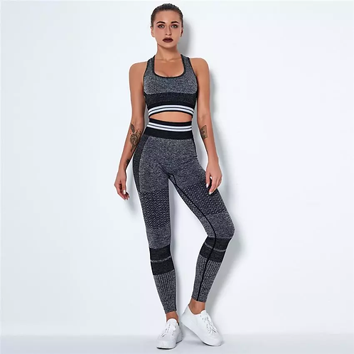 RV Sporty Stripes Set - Black