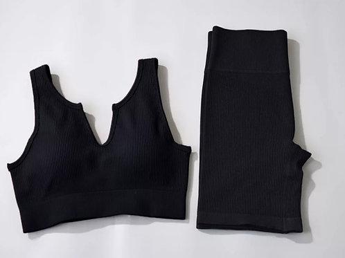 RV New You Set - U neck (Shorts) - Black