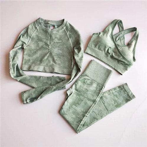 RV Army 3PCS Set (Longsleeves, Sportbra + leggings)