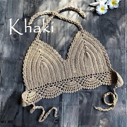 RV Crochet Halter #1 - Khaki