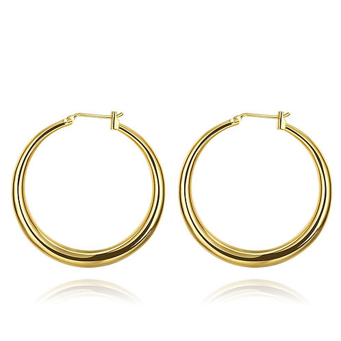 EVA 3.5X0.5CM - Gold Hoops Earrings