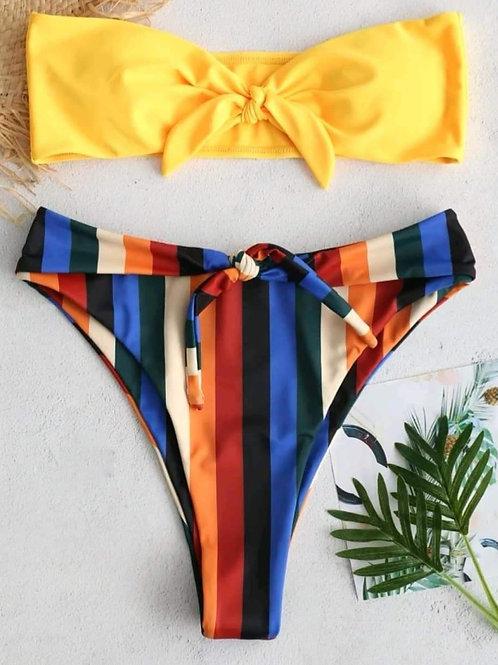 Stefanie Stripe Bikini Set