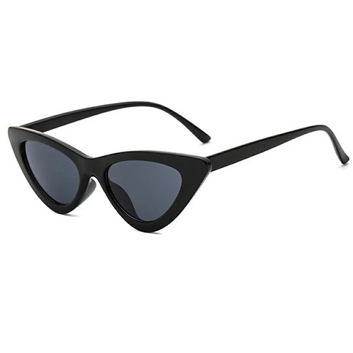 All Time Cat Eye Sunglasses - All Black