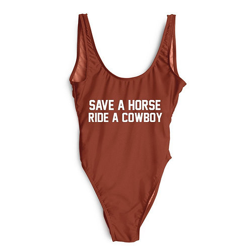 Save A Horse Ride A Cowboy Bodysuit